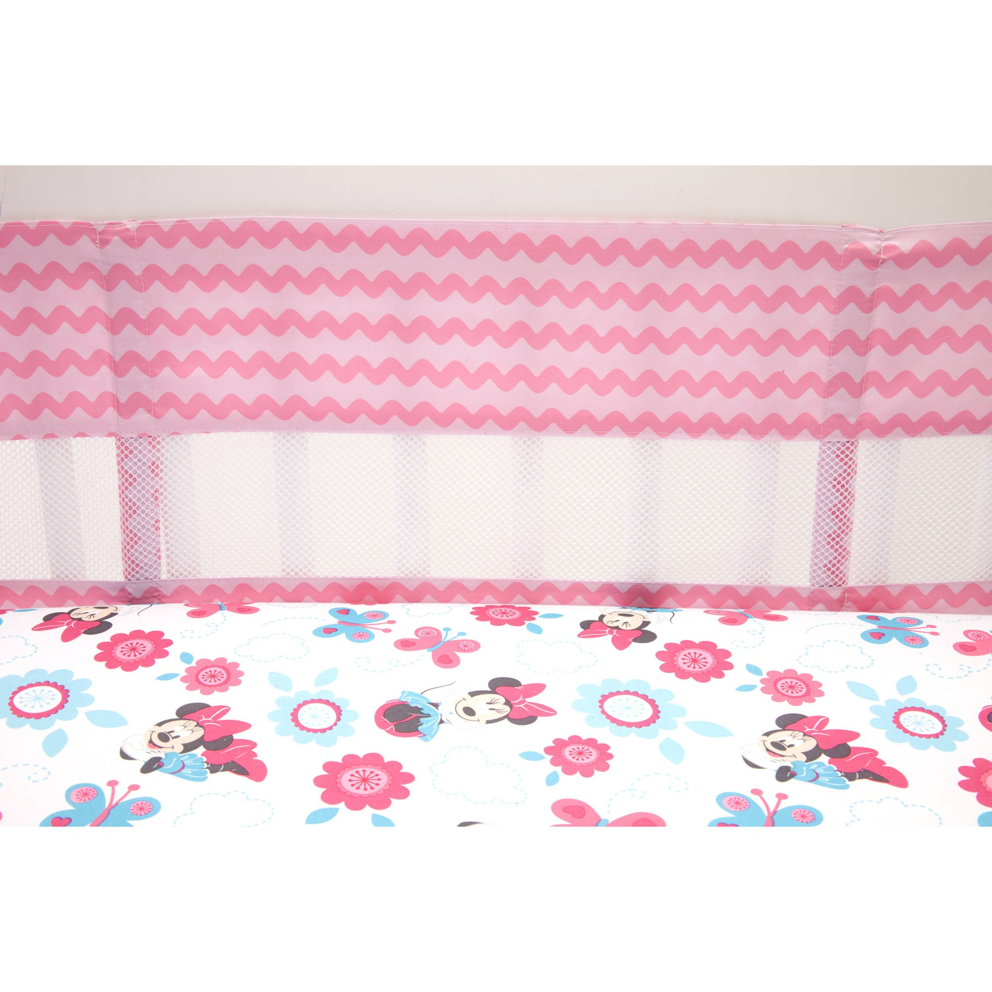 Disney Minnie Mouse Happy Day Secure Me Crib Liner