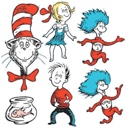 LARGE DR SEUSS CHARACTERS 2-SIDED DECO KIT - Seuss Characters