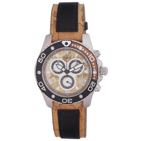 Prima Classe Mens Pch 910 Fa Chronograph Goe Design Leather Date Watch