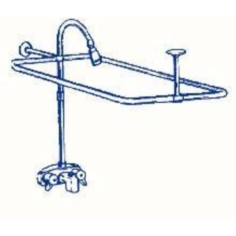 ... R2200a Clawfoot Tub Shower Faucet And Rectangular Combo Set