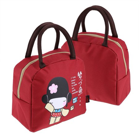 Dilwe Kids Girls Adults Insulated Lunch Bag Work Travel School Picnic Food Storage Container ,School Lunch Bag, Work Lunch - Schoolgirl Adult