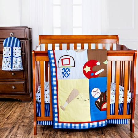 Dream On Me Portable Crib Bedding Set