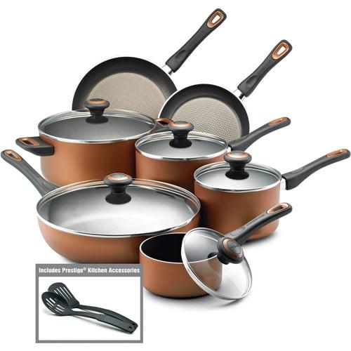 Farberware High-Performance 14-Piece Cookware Set, Copper ...