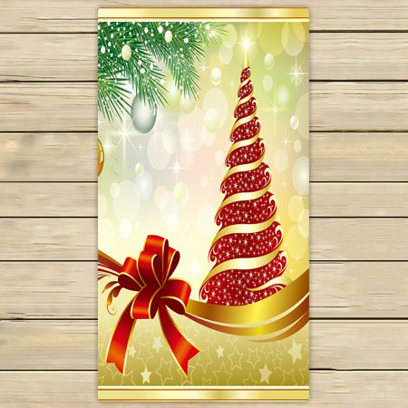 PHFZK Festival Towel, Winter Holiday Merry Christmas Hand Towel Bath Bathroom Shower Towels Beach Towel 30x56