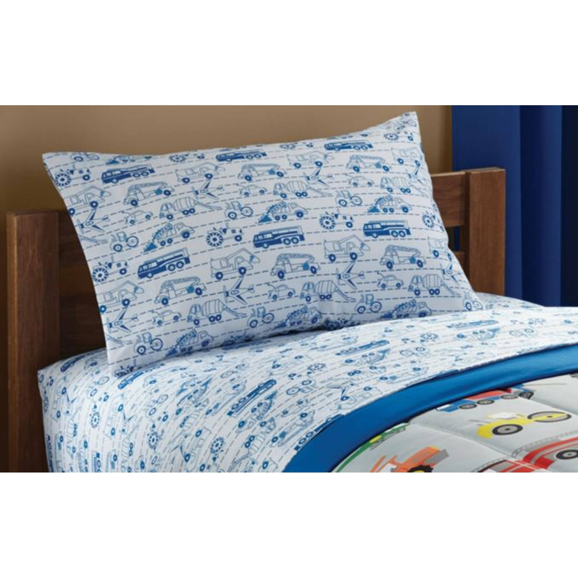 Mainstays Kids Transportation Coordinating Printed Sheet Set
