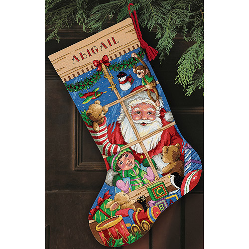 "Dimensions Gold Collection ""Santa's Toys Stocking"" Counted Cross Stitch Kit, 16"" Long"