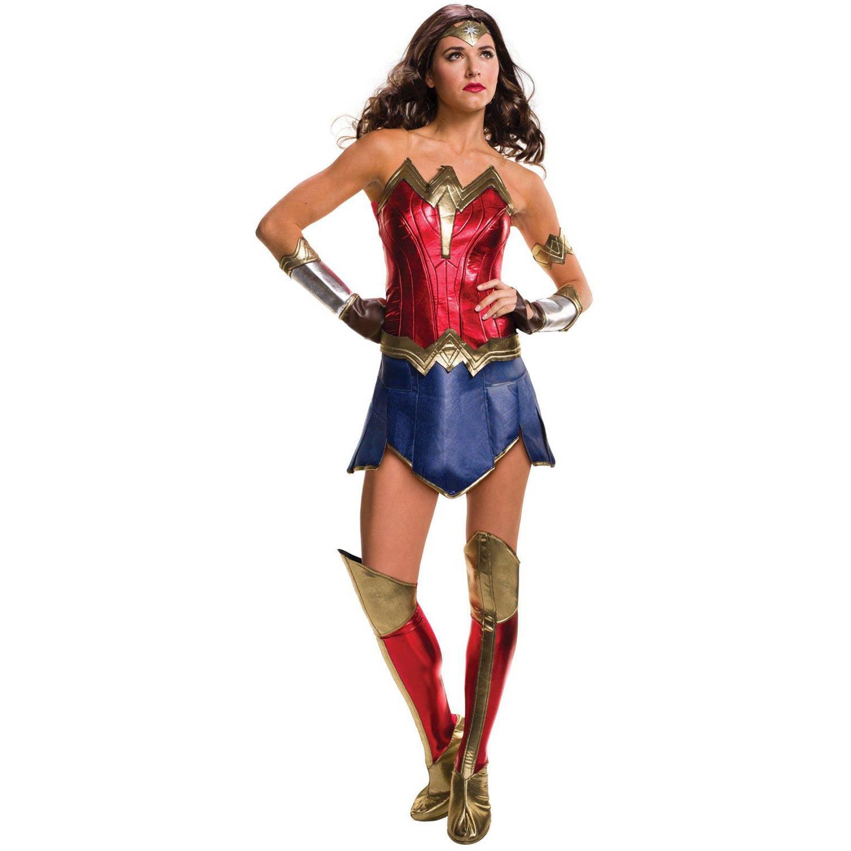 Wonder Woman Wig Adult Batman v Superman Costume Halloween Fancy Dress