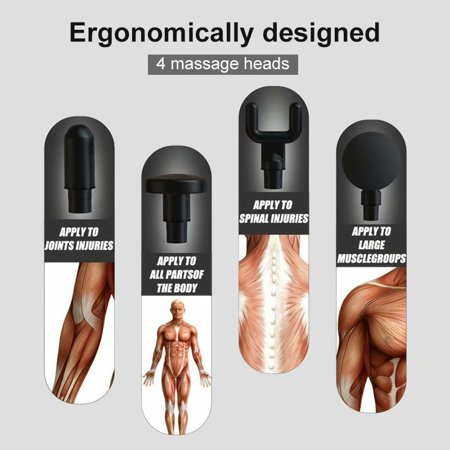 Massage Gun Cordless Rechargeable Muscle Stimulator Deep Tissue Massager Device Body Relaxation Slimming Shaping Pain Relief - image 8 of 8