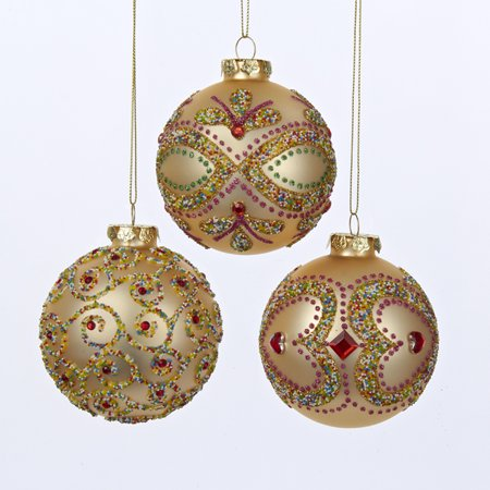 Pack Of 18 Rose Gold Diamond Glass Ball Christmas Ornaments 3 80mm