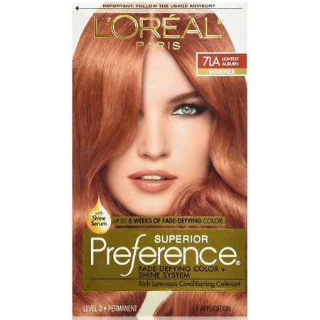 L'Oreal Superior Preference - 7LA Lightest Auburn (Warmer) 1 Each](One Direction Halloween Preferences)