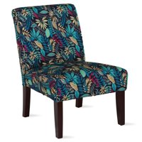 Dorel Living Teagan Armless Accent Chair in Leaf Pattern