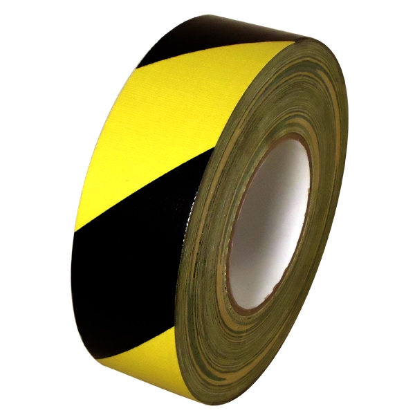 Black & Yellow Hazard Striped Duct Tape 2 inch x 60 yards