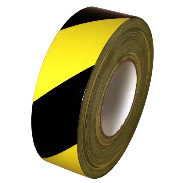 Black & Yellow Hazard Striped Duct Tape 2 inch x 60 yards