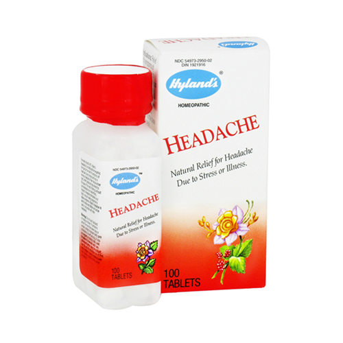 Hylands Headache Tablets Relieves Stress And Sick Or Nervous Headaches - 100 Ea