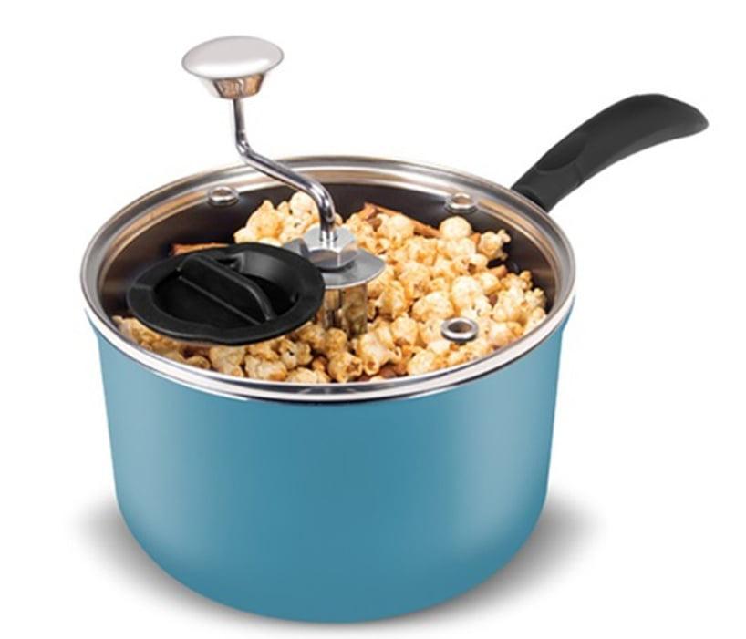 Zippy Stovetop Popcorn Popper Snack Maker w//Glass Lid /& Crank Stainless Handle