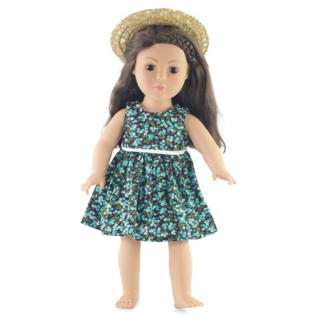 Floral Outfit Girl - 18 Inch Doll Floral Dress Outfit | Fits 18