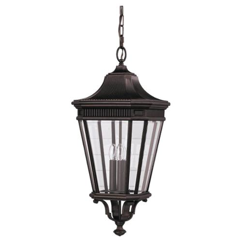 Feiss 3 -light Cotswold Lane Outdoor Pendant in Grecian Bronze by Overstock