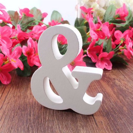Sweetsmile Wedding Reception Sign White Wooden English Letters Mr & Mrs Table Centrepiece Decor