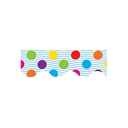- Teacher Created Resources Multicolor Polka Dots Border Trim