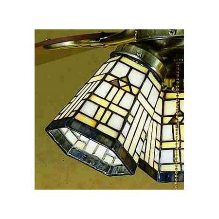 Meyda Tiffany 27461 Stained Glass / Tiffany Fan Light Kit Glassware