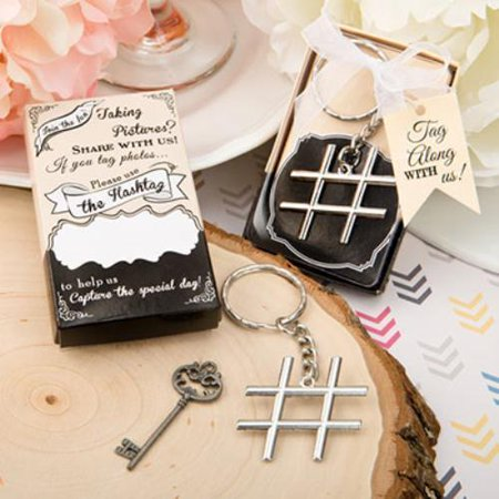 Hashtag Love Collection Chrome Finish Silver Metal Key Chain   Price 48