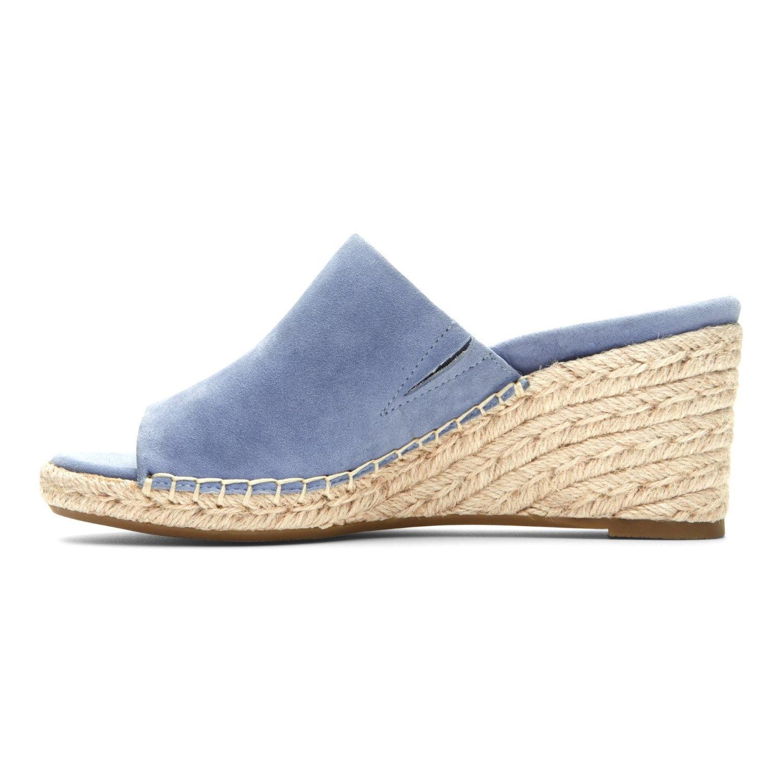 ad866882f50d Vionic - Vionic Women s Tulum Kadyn Suede Slide-On Wedged Sandals Blue  (9.0W) - Walmart.com
