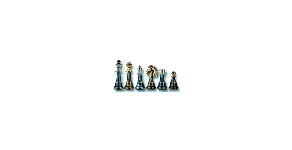 Italian Made Chess Set in Gold & Silver Plate The Magnificent by Cambor