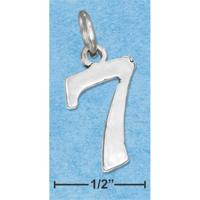 "Plum Island Silver CH-1187-7 Sterling Silver ""7"" Number Charm Pendant"