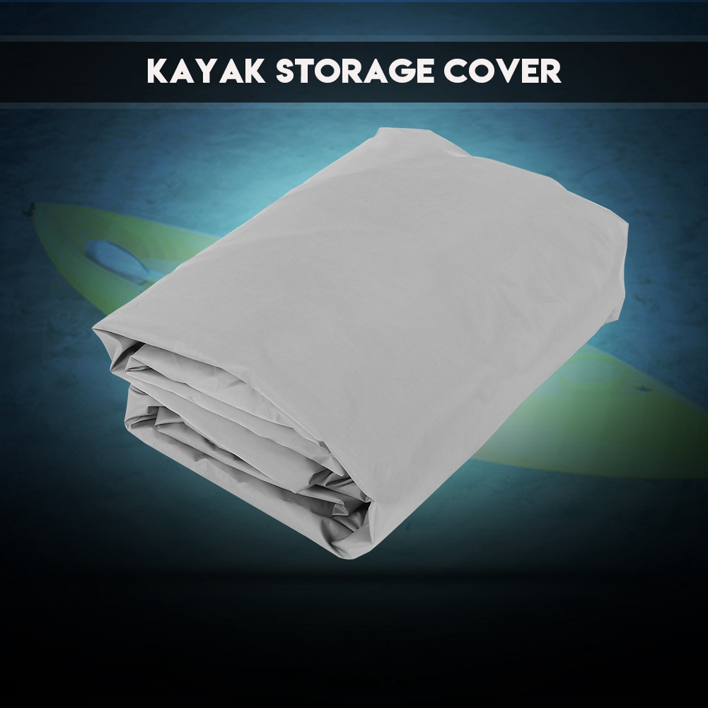 4.5m Waterproof UV Sun Protection Storage Dust Cover for 3.6-4m Kayak Boat Canoe, UV Sunblock Shield Canoe Cover, Durable Waterproof Kayak Cover