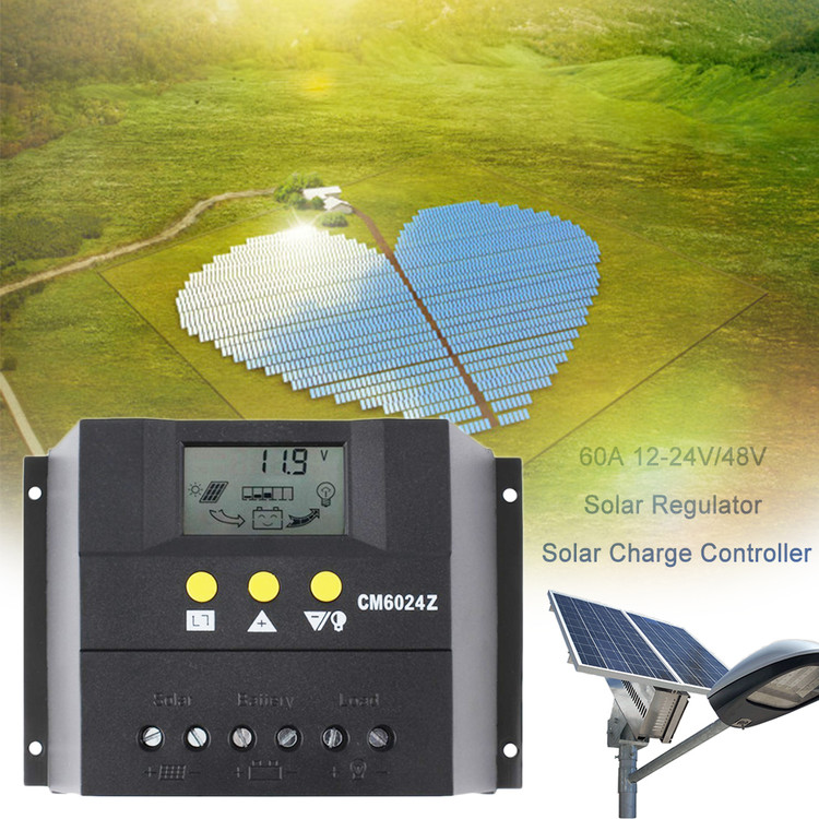 LESHP - 60A 12-24V/48V Solar Charge Controller Solar Regu...