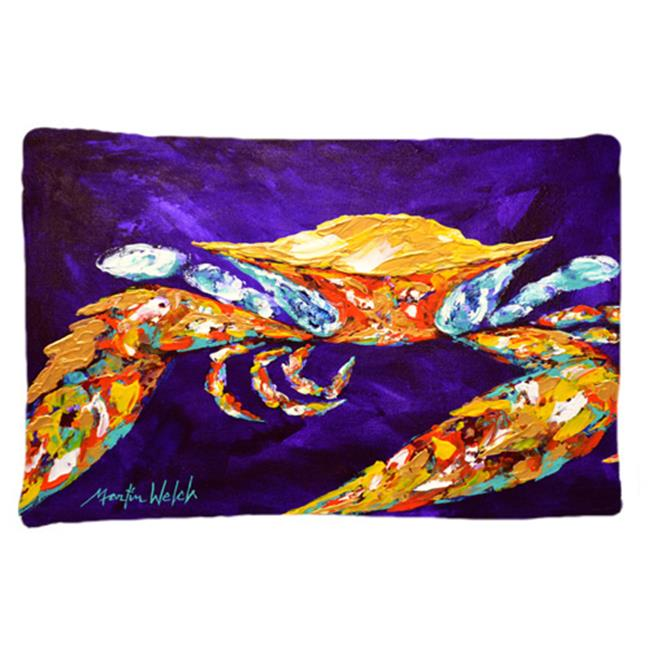Carolines Treasures MW1172PILLOWCASE The Right Stuff Crab In Purple Moisture Wicking Fabric Standard Pillowcase - image 1 de 1