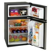 Avanti RA3136SST 3.1 cu. ft. Two Door Counterhigh Refrigerator - Black with Stainless Steel Door
