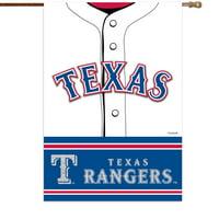 "Texas Rangers 29"" x 43"" Double-Sided Jersey Foil House Flag"