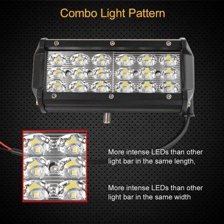 """7"""" Tri Rows 18W 18 3030-SMD-LED Spot Work Light Bar Offroad Boat 4WD - image 8 of 10"""