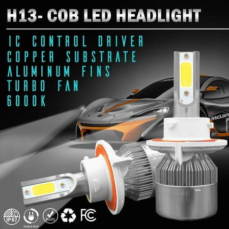 Conversion Kit H13 Bulb - Wideskall® H13 OSRAM COB LED Headlight Bulb Conversion Kit 6000K High Low Beam Hi-Lo Beam