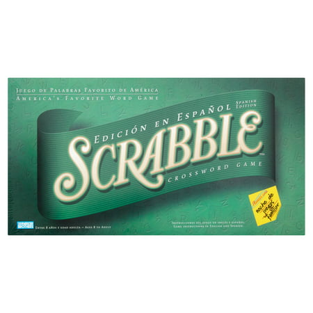 Scrabble Crossword Game Spanish Edition (Scrabble Premier Wood Edition Deluxe Turntable Game)