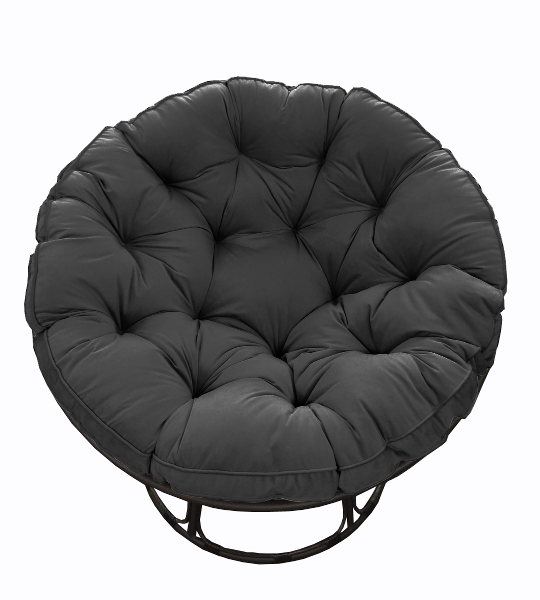 Better Homes & Gardens Papasan Chair with Fabric Cushion, Charcoal Gray