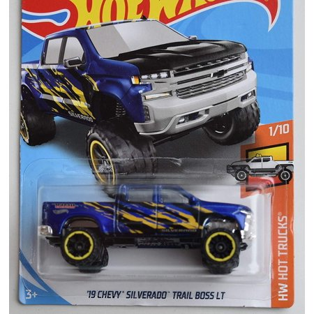 Hot Wheels '19 Chevy Silverado Trail Boss LT (Blue) HW Hot Trucks