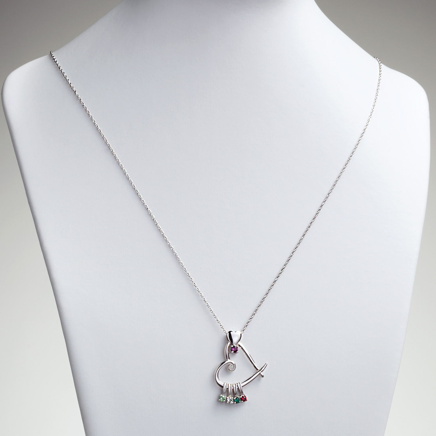 grandma s y lariat crystal grandkid birthstone pin mother necklace