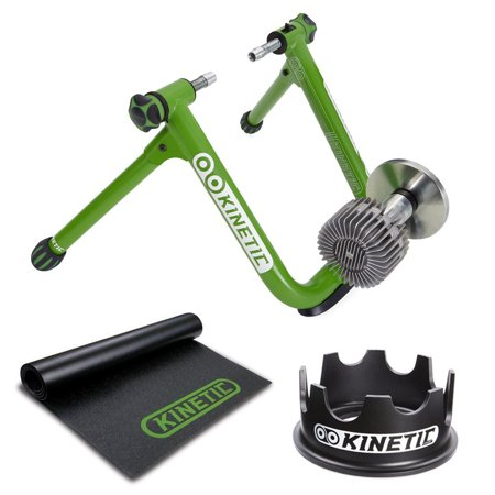 Kinetic T2200  Road Machine 2.0 Fluid Trainer + Floor Mat & Fixed Riser Ring