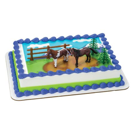 Horses Edible Cake Topper DecoSet® Background - Horse Racing Cake Designs