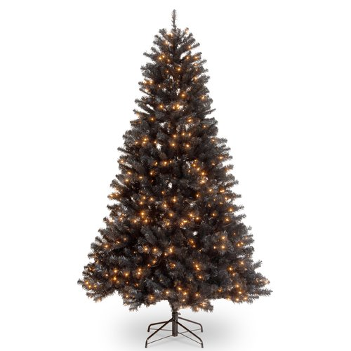 The Holiday Aisle North Valley  7' Black Spruce Artificial Christmas Tree with 500 Clear Lights with Stand