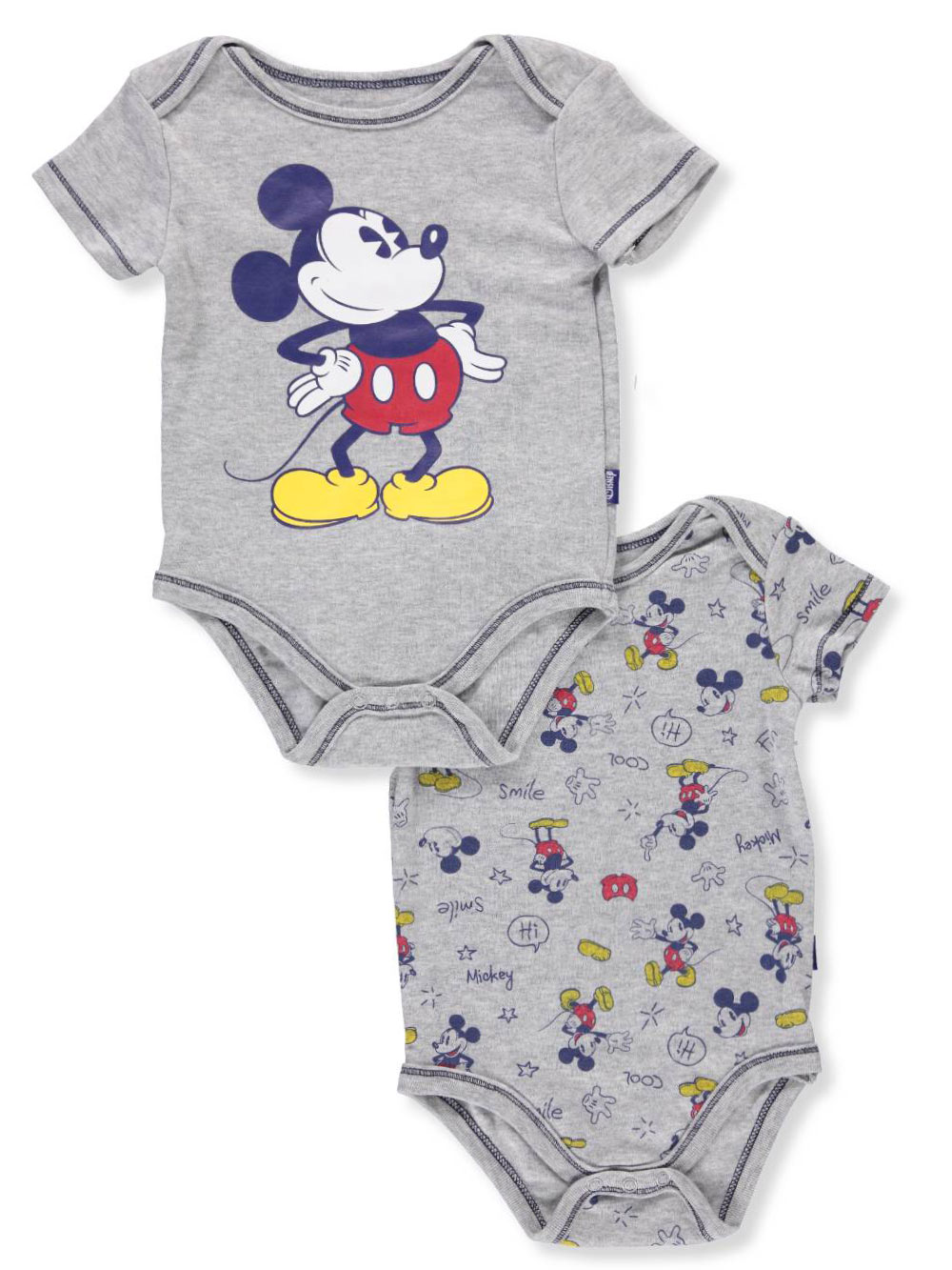 Disney Mickey Mouse Baby Boys' 2-Pack Bodysuits