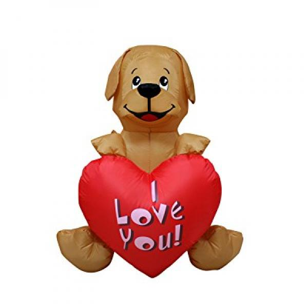 4 Ft Inflatable Valentine Day Puppy Dog Wedding Anniversa...