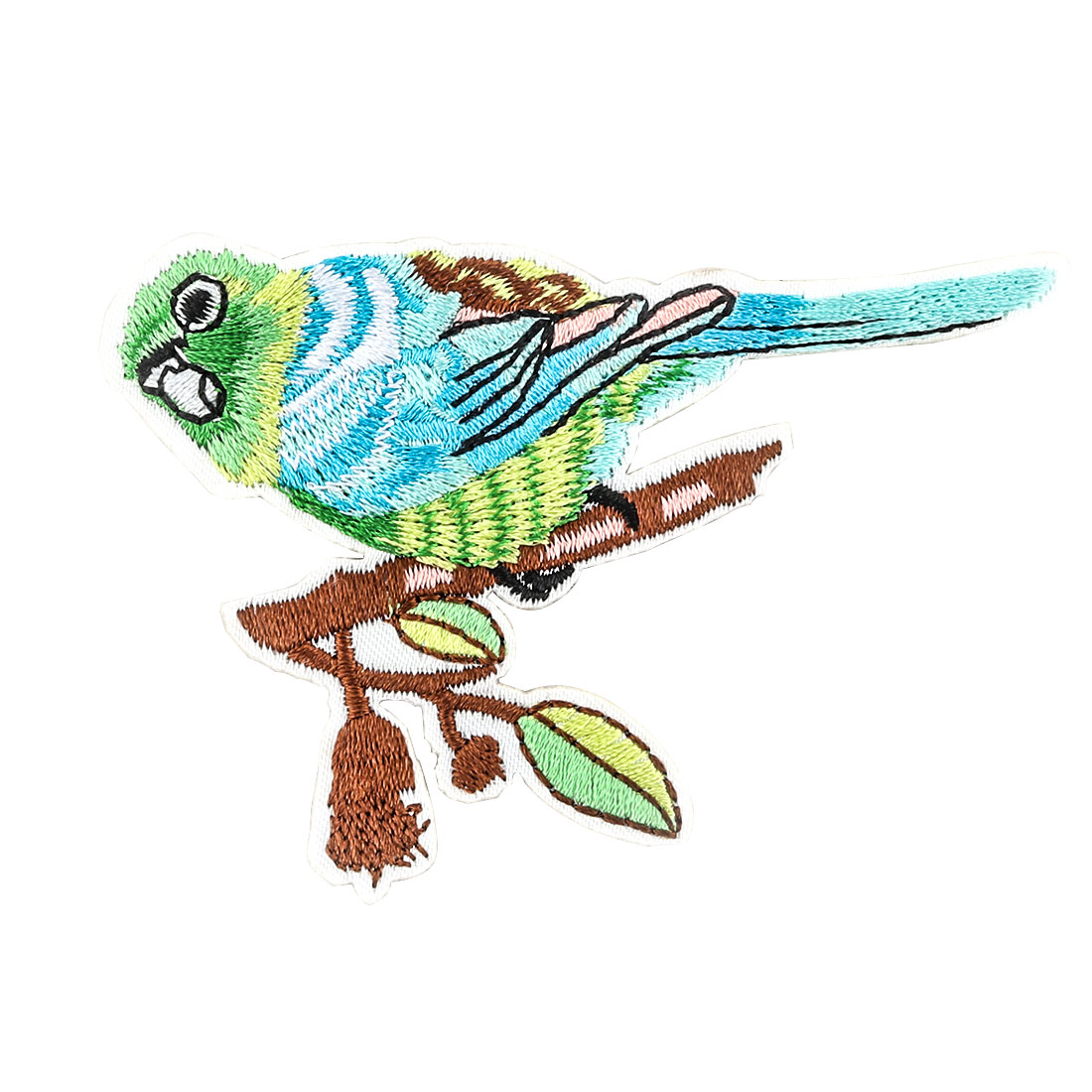 Unique Bargains Home Polyester Parrot Pattern Embroidery Handicraft DIY Clothes Lace Applique