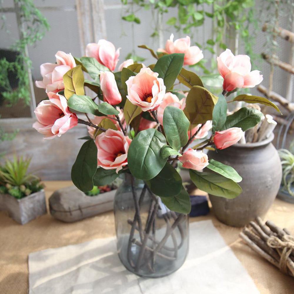 Mosunx Artificial Fake Flowers Leaf Magnolia Floral Wedding Bouquet Party Home Decor