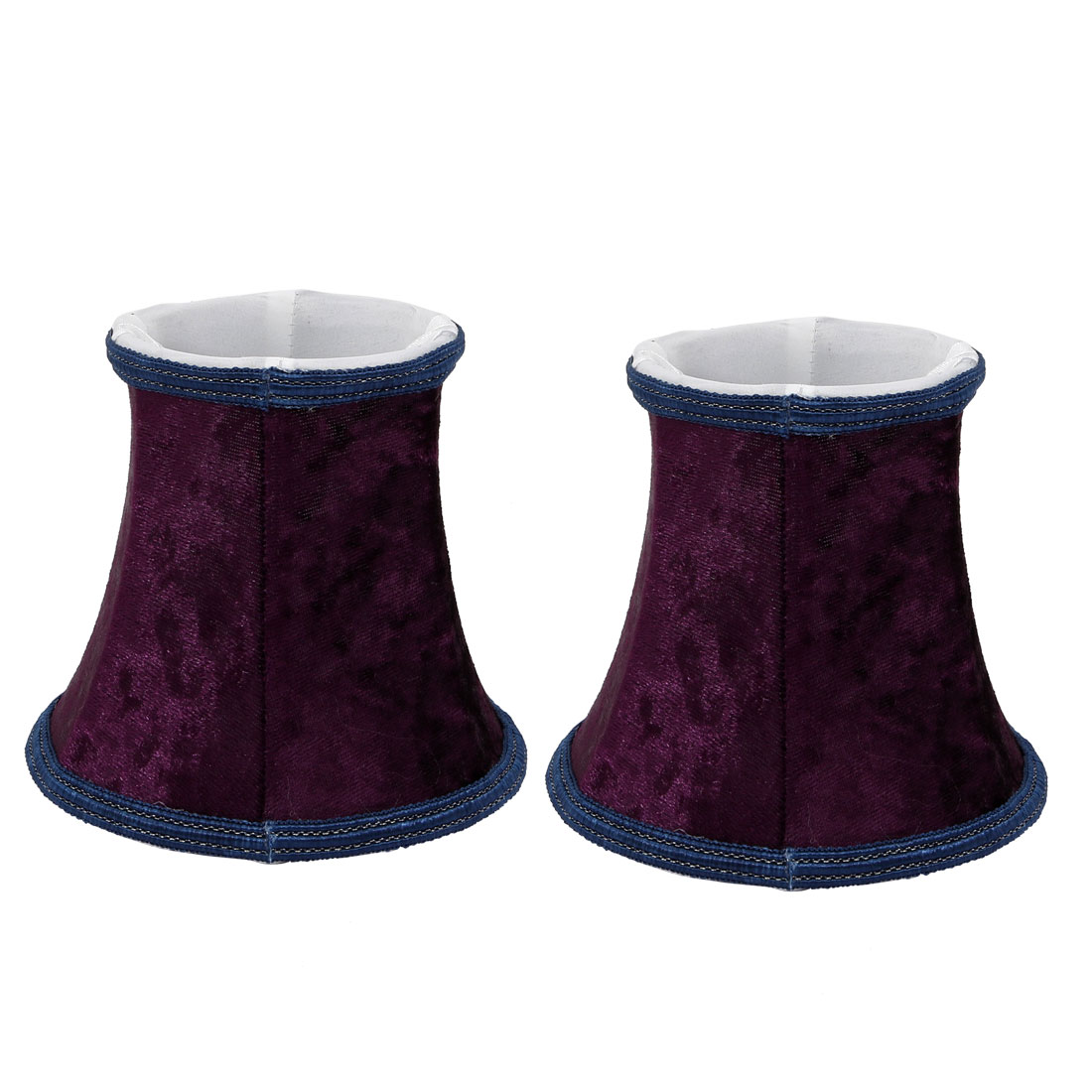 2pcs Wall Shade Small Bell Shape Chandelier Clip-On Lampshade Purple by