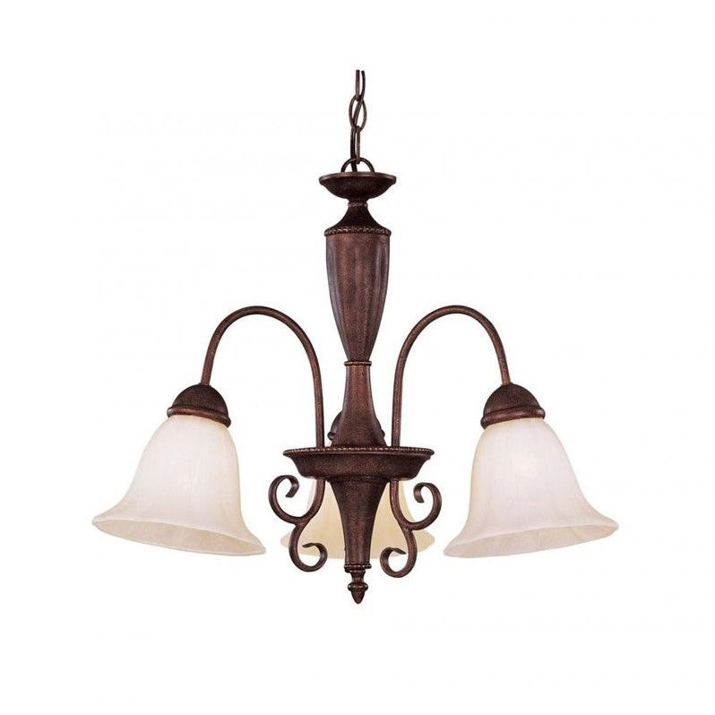 Savoy House Liberty 3 Light Chandelier in Walnut Patina