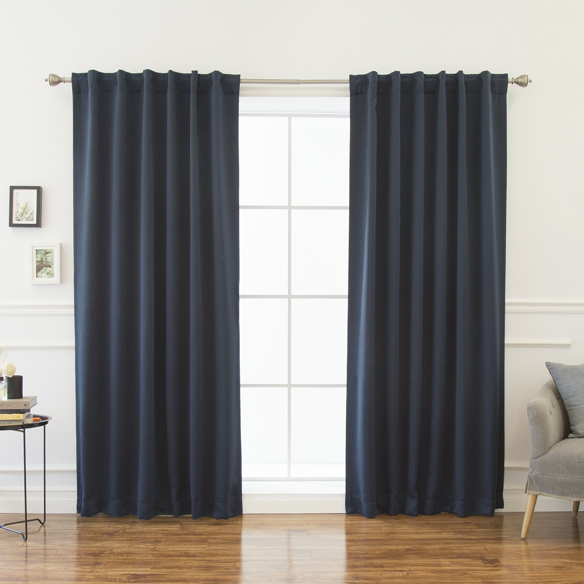 Best Home Fashion Thermal Insulated Backtab Blackout Curtain (Set of 2) 52-in W 72-in L