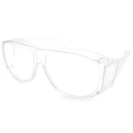 Solar Shield Fits-Over Sunglasses - SS Polycarbonate II Crystal / SOLAR SHIELD II CLEAR POLYCARBONATE (Best Way To Clean Polycarbonate Lenses)